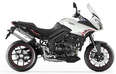 Triumph Tiger 1050 Sport looks sharp in white. Check the new swingarm, bodywork, and exhaust. It gets 10bhp more too!