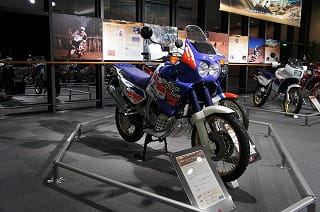 One of Honda's mint, original Africa Twins on display at the Collection Hall in Japan