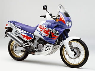 Splash graphics are very 1993, but there's no mistaking the style of the Africa Twin. Still a great bike now.