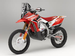 2013 Honda CRF450 Rally is based on a CRF450X, loosely. This is proper hand-built HRC-spec, make no mistake