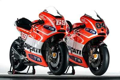 Ducati's 2013 MotoGP bikes, the GP13