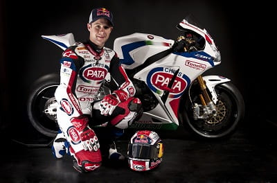 Rea at the team launch with his new Team Pata Honda CBR1000RR