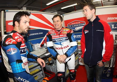 Cameron Donald, John McGuinness and Simon Andrews in the documentary