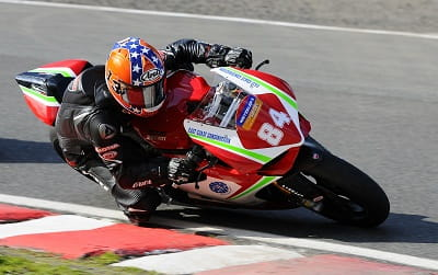 Lee Johnston on the 1199 Panigale last year. He's known as the General in the race paddock, hence the lid.