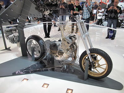 Yamaha's triple prototype at the Milan Motorcycle show