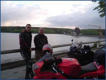 On the dam at last year's Dambusters ride