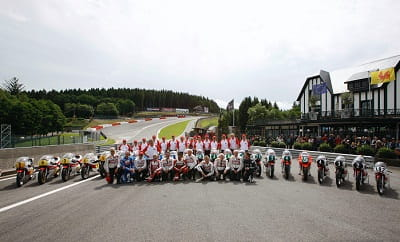 Legendary race bikes and racers line up at Spa