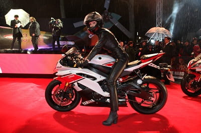 Yamaha's R6 made its red carpet appearance in London's Leicester Square premiere of the new movie, A Good Day to Die Hard
