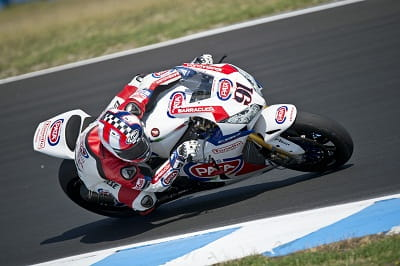 Haslam getting down to business at the Phillip Island WSB tests earlier this week