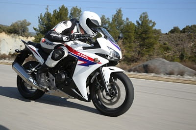 Honda's CBR500R looks like a mini Blade, especially in white, red and blue colour scheme.