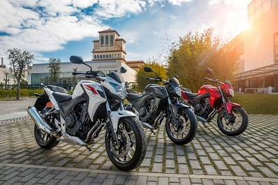 Honda's CB500F looking good in white, black or red