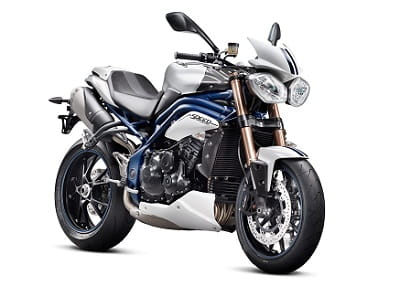 Blue frame and blue swingarm for Special Edition Speed Triple