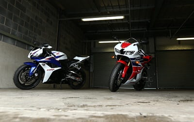 2012 CBR600RR on the left, 2013 CBR600RR on the right. They're really quite different.