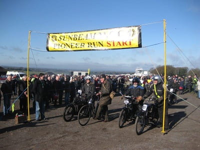 The start of last year's Pioneer Run, sadly it wasn't to be this year.