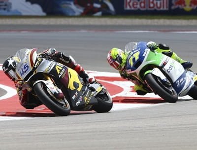 Redding battling it out with Aegerter in Austin, Texas.