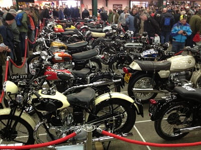 Just a small selection of the bikes lined-up in the concours competition.