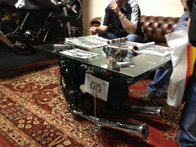 Bored of your usual coffee table? Try this FJ1100 table for size. The motor actually works!