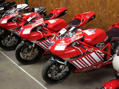 Ducati Corse built three Stoner replica 999's for use at shows. They were for sale at the Bonhams auction.