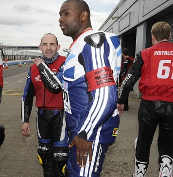 Derek Redmond at Donington Park last week.
