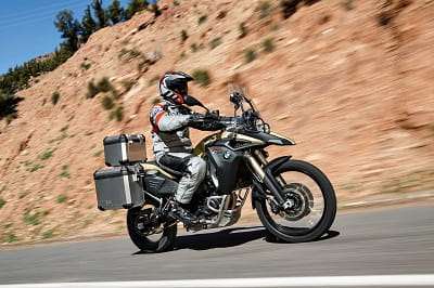 BMW's F800GS Adventure. Some people think the  smaller GS is actually better than the big 1200, so will be interesting to see how this goes down.