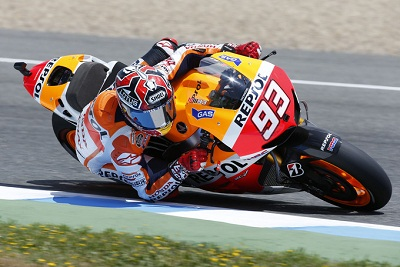 Marquez yet again showed impressive form by topping Monday's test times in the Jerez MotoGP test.