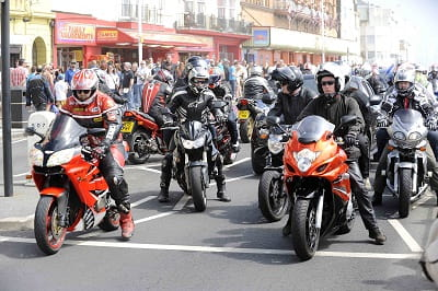 More than 32,000 bikes were in Hastings on Sunday!