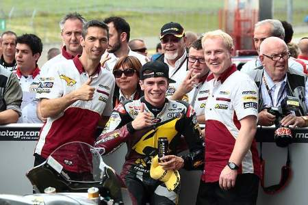 Bike Social's Scott Redding celebrates his Mugello victory