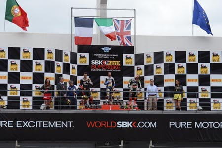 Melandri and Laverty victorious at Portimao