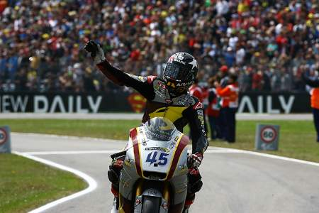 Bike Social's Scott Redding celebrates 2nd place in Assen