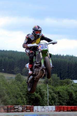 Redding getting some air in Supermoto