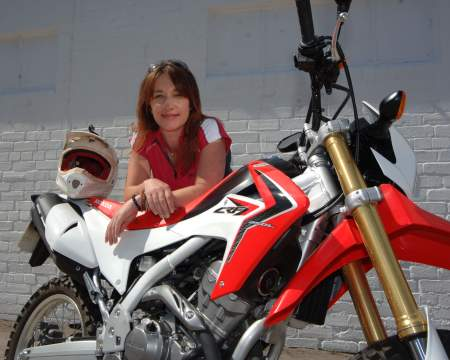 Steph with her Honda CRF250L
