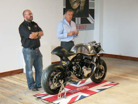 Norton CEO Stuart Garner and Head of Design Simon Skinner