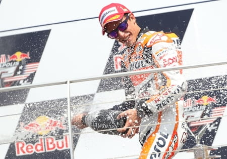 Marquez takes his third win in America