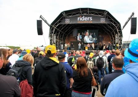 The Riders for Health Day of Champions stage at Silverstone