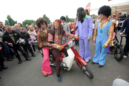 John McGuinness with fellow TT stars get into the spirit