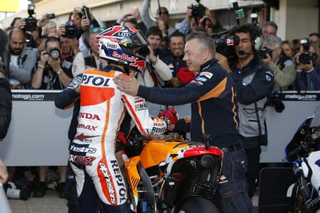 Marquez took pole at Silverstone