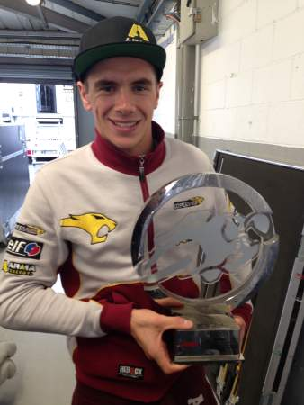 Scott Redding poses with his 1st place trophy