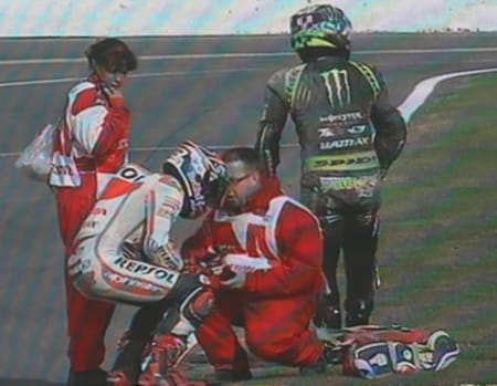 Marquez dislocated his shoulder