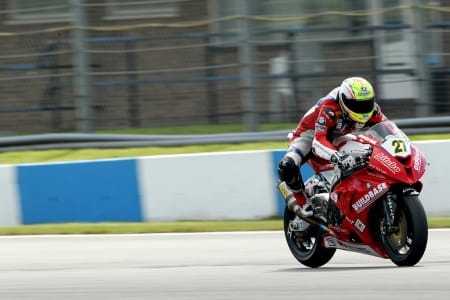 Westmoreland took two pole positions at Donington