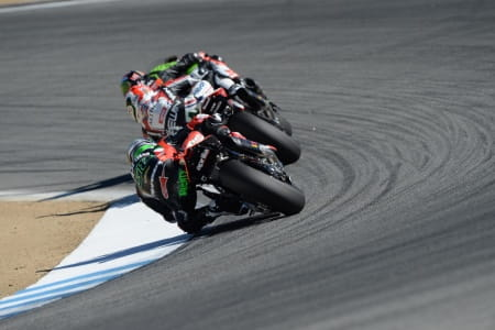 Laverty fought his way to the front