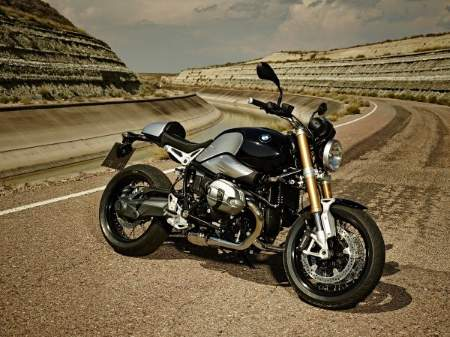 Right side profile of BMW's new R nineT