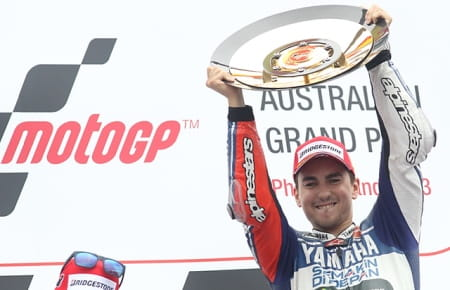 Lorenzo wins in Phillip Island