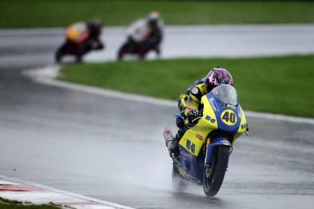 Joe fell in the wet at Brands Hatch