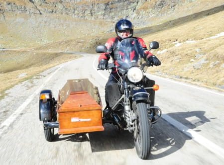 A ural motorcycle with a difference