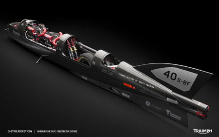American team hopes to Triumph in land speed attempt