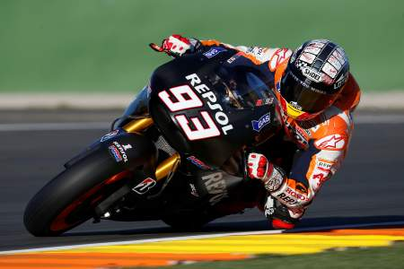 Marc Marquez ends the three-day Valencia test on top
