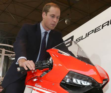 Prince William spent the day at Motorcycle Live