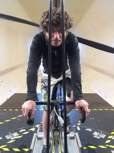 Guy Martin in training with his propeller-powered bike