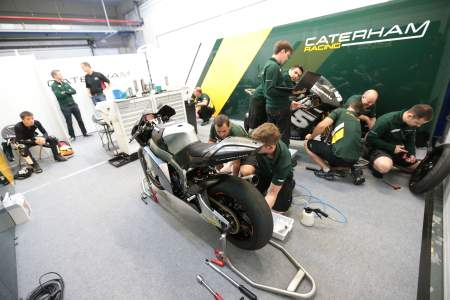 Caterham Moto2 team garage