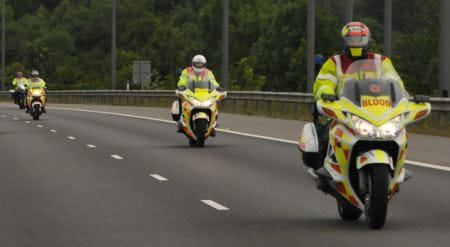 Neil Boast trains these blood bikers